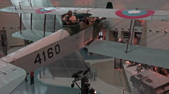 Quantico VA National Museum of the Marine Corp biplane aircraft gunner 4K 077 Stock Footage