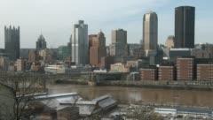 Pittsburg, and Monongahela River Stock Footage