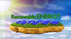 Solar panels renewable energy concept Stock Illustration