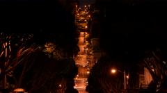 4K San Francisco Lombard Street 02 Timelapse Tilt Up Stock Footage