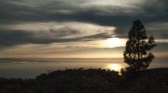 sunset on island time lapse - stock footage