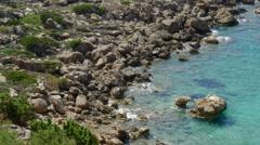 Mediterranean Sea in Southwest Crete Stock Footage