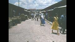 Vintage 16mm film, Brazil town traffic people, 1960s Stock Footage