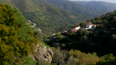 Cretan Villages in the Mountains of Western Crete Stock Footage