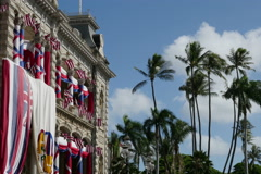 Iolani Palace Stock Footage