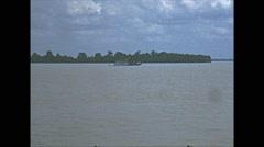 Vintage 16mm film, Amazon river traffic 1960s Stock Footage