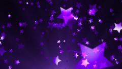 Purple Shooting Stars Against Purple and Black Motion Background - stock footage
