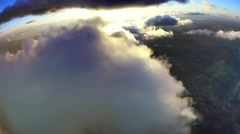 Aerial Clouds, decks, layers, puffy Stock Footage