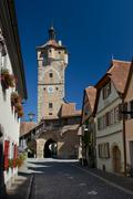 Ancient Gate in Rothenburg ob der Tauber - stock photo