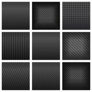 Set of Assorted Gray Metallic Textured Pattern - stock illustration