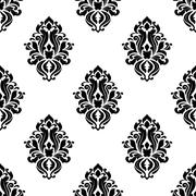 Stock Illustration of Decorative damask floral seamless pattern