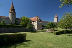 The Ramparts of Rothenburg ob der Tauber - stock photo