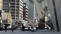 Toronto Canada - Outside the Royal Ontario Museum Stock Footage