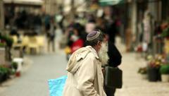 Jews in Jerusalem 1 Stock Footage