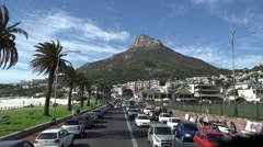Driving through Camps Bay (Cape Town, South Africa) Stock Footage