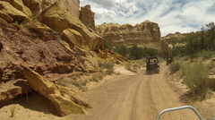 San Rafael Desert Eagle Canyon 4x4 ride landscape HD Stock Footage