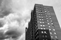 Tower Block Storm Clouds Stock Photos