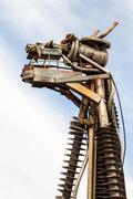 Junk Metal Cow Head - stock photo
