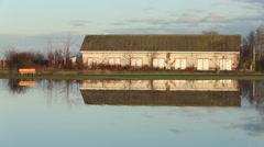 Scotch Pond Net Shed, Garry Point, Steveston Stock Footage