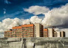 Modern Housing Apartments Stock Photos
