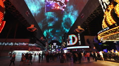 The Freemont street experience in Las Vegas - stock footage