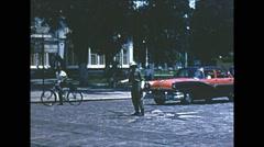 Vintage 16mm film, Rio de Janeiro traffic cop, 1960s Stock Footage