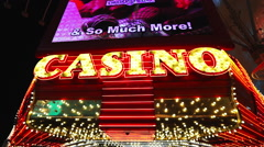 Las Vegas casino in downtown - stock footage