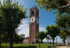 Belvedere Tower in Mondovi - stock photo