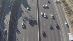 Stock Video Footage of Aerial Footage of Traffic on 101 Freeway