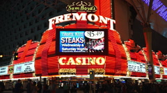 The Freemont Casino at Las Vegas Downtown Stock Footage