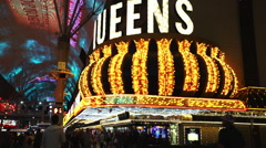 The 4 Queens Casino at Freemont street - stock footage