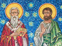 Jesus Christ Apostles Mosaic Stock Photos