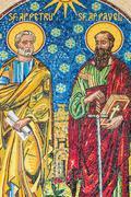 Jesus Christ Apostles Mosaic - stock photo