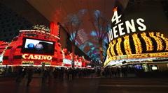 The Freemont street Las Vegas - stock footage