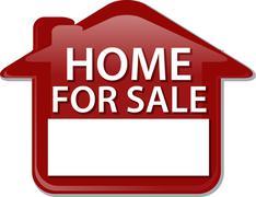 Stock Illustration of Home for sale sign Illustration clipart