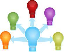 Stock Illustration of Sharing ideas Illustration clipart