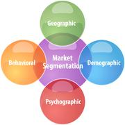 Market segmentation business diagram illustration Stock Illustration