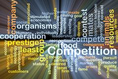 Competition wordcloud concept illustration glowing Piirros