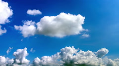 Clouds Drifting Across The Sky. Time lapse. Stock Footage