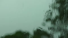 Spring Storm With Sound - stock footage