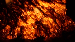 Extreme Close up of slow moving lava - Kilauea Hawaii Stock Footage
