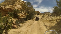 San Rafael Desert Eagle Canyon 4x4 ride friends HD Stock Footage