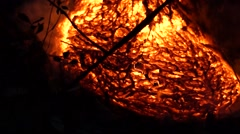 Close up of slow moving lava from Kilauea Hawaii Stock Footage