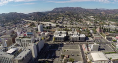 Aerial Shot of Hollywood with 101 Freeway Stock Footage