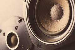 Old speakers - stock photo