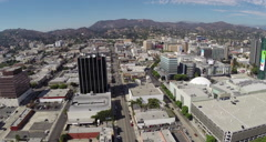 Stock Video Footage of Aerial Shot of Hollywood with CNN Building