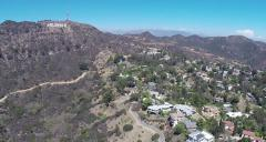 Aerial Shot of Hollywood Sign - stock footage