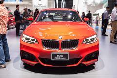 BMW 220i Coupe on display Stock Photos