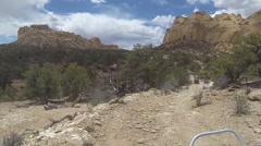San Rafael Desert Eagle Canyon 4x4 trail ride HD Stock Footage