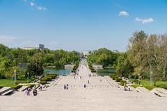 Carol Park Or Liberty Park In Bucharest - stock photo